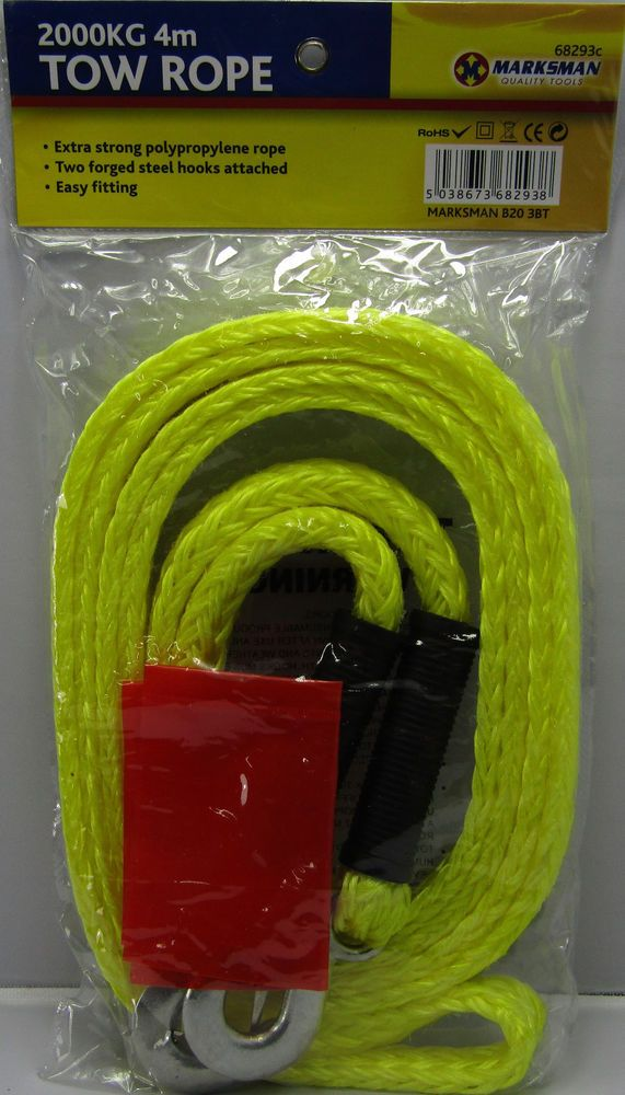 TOW EMERGENCY TOWING ROPE 2000kg 4m BREAKDOWN STRONG RECOVERY PULL