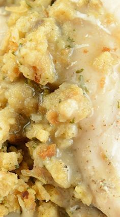 Crock Pot Chicken Stuffing Casserole