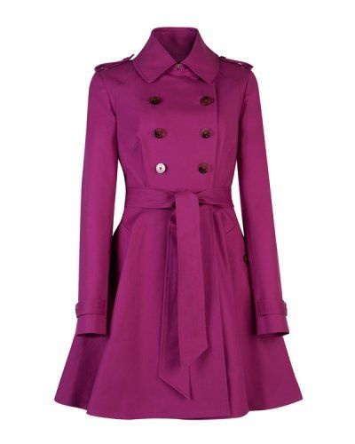 Ted Baker trenchcoat in berry.