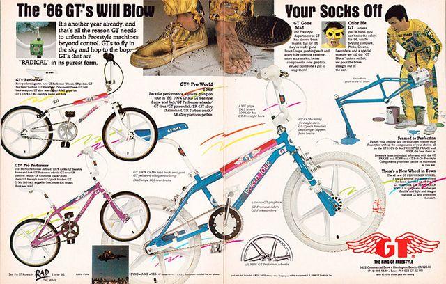 1986 GT Freestyle bike advertisement!