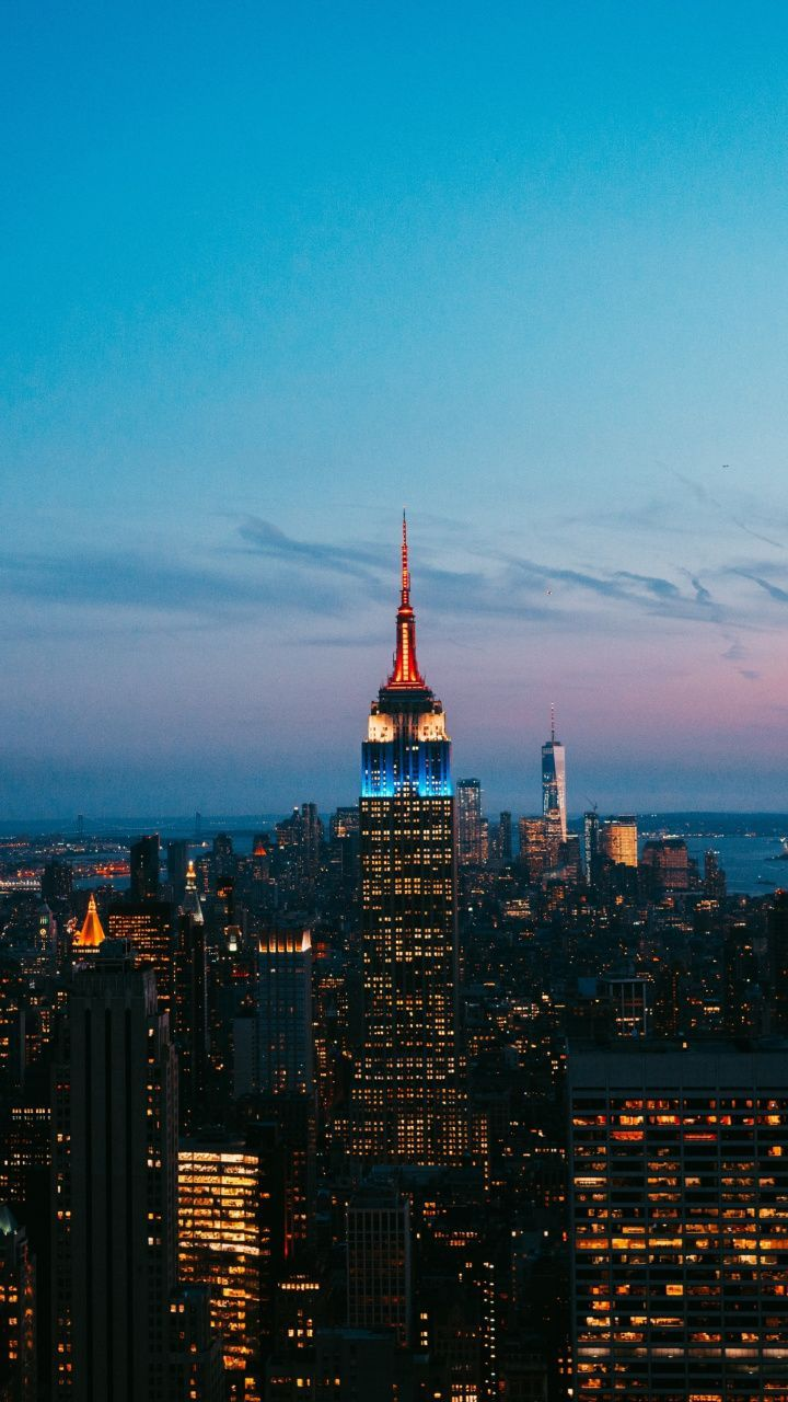 New York City Night Lights Wallpaper
