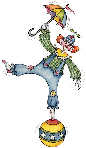 JUST CLOWNING AROUND - Laurie Furnell (761x1302 px print)