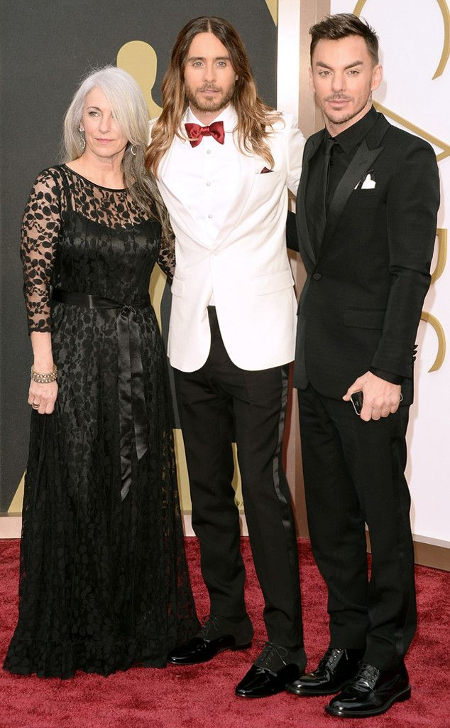 Could Constance Leto be any more gorgeous? Her black lace, bold red lip, and long, flowing salt-and-pepper hair made her one stunning date for her son Jared at the Oscars. Constance Leto, Jared Leto, Shannon Leto