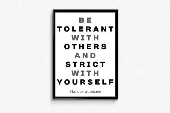 PRINTABLE ART  Marcus Aurelius Quote: Be tolerant with