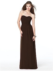 Dessy Collection Style 2834 #brown #bridesmaid #dress