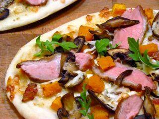 Duck Pizza with Smoked Mozzarella, Roasted Butternut Squash and Sauteed Mushrooms Recipe – Paired with Kaesler Stonehorse Shiraz Grenache Mourvèdre 2008   https://www.nataliemaclean.com/blog/duck-pizza-with-smoked-mozzarella-roasted-butternut-squash-and-sauteed-mushrooms-recipe-paired-with-kaesler-stonehorse-shiraz-grenache-mourvedre-2008/ #wine #winetaste #wineglass #wine101 #wine911 #winebottle #wineexpert #winedrinker #ilovewine #wineallthetime #wineknowledge #wineinfo #learnaboutwine…