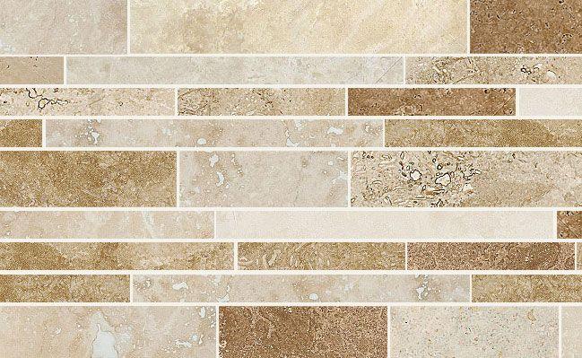 Giallo Ornamental Granite With Backsplash | travertine subway tile multi size large