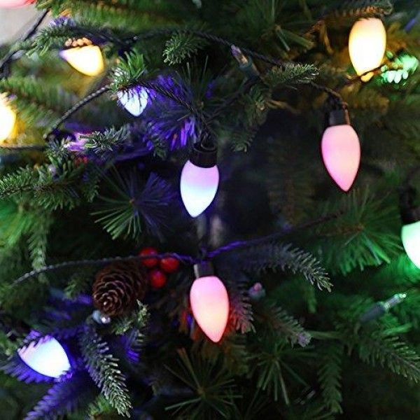 Low Voltage Christmas Lights.Christmas Festival 40 Ct Low Voltage C9 Light With Remote
