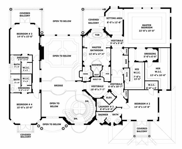 Largest luxury house plans for Luxury mountain home floor plans