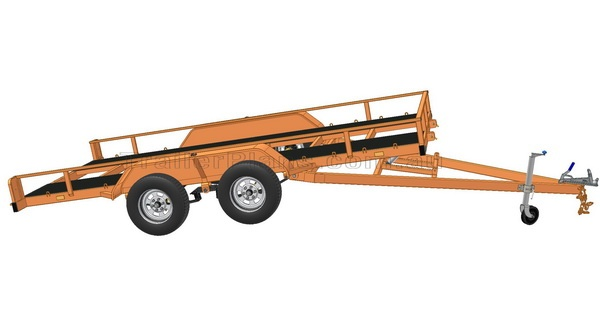 Flatbed Tilt Trailer PLANS - Build your own Flatbed TILT Trailer  www.trailerplans.com.au