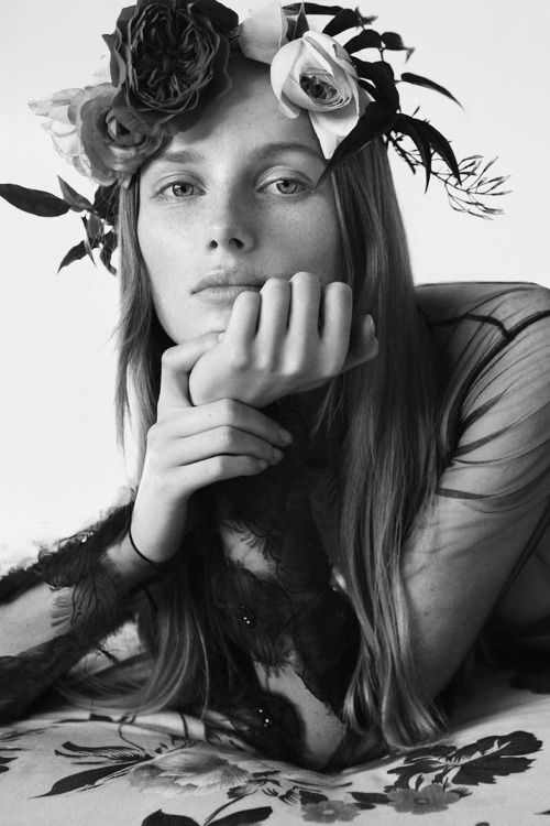 """Rianne Van Rompaey by Daniel Jackson in """"Garden Of Love"""" for Vogue China, April 2015"""
