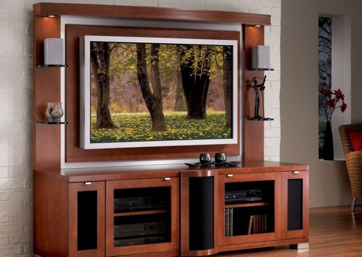 JSP Bolero Plasma Home Theater Credenza and Back Panel. Wooden Tv Stand ...