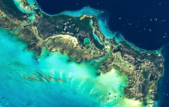 Turks And Caicos Satellite Imagery Aerial Map Map Art Etsy Satellite Image Aerial Turks And Caicos