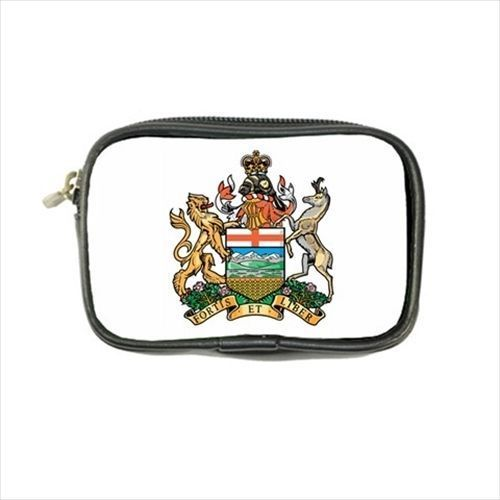 12.50$  Watch here - http://visqb.justgood.pw/vig/item.php?t=vaj9cl46430 - Alberta Canada Coat Of Arms Leather Coin Purse - Heraldry Tabard