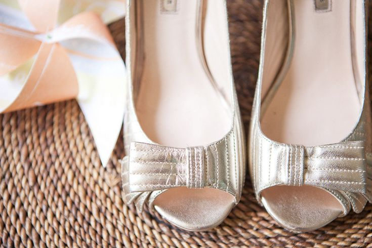 romantic wedding themes outdoor wedding pastels spring summer metallic wedding shoes