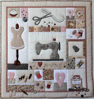 Les Quilts: International Quilting Day! Sulky BOM My Sewing Room!