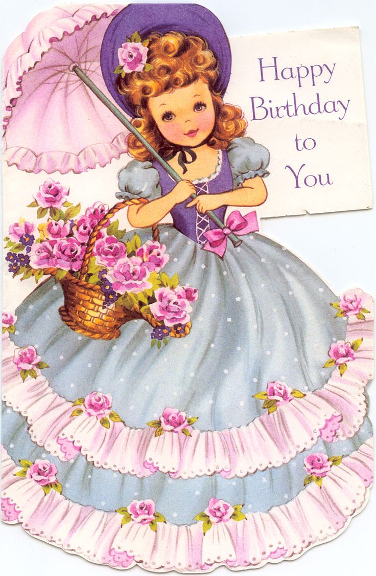 216 Best Intage Birthday Cards Images On Pinterest Vintage