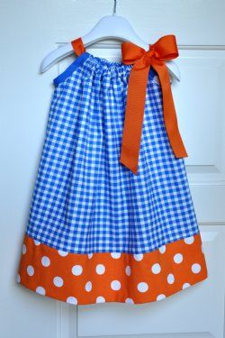 Children's Pillowcase Dress  Florida Gators cant wait to have a daughter so I can put her in cute stuff like this!!!