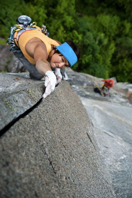 Ines Papert Repeats Super Cirill 8a/8a+, 9 pitches, Tessin, Valle Bavona