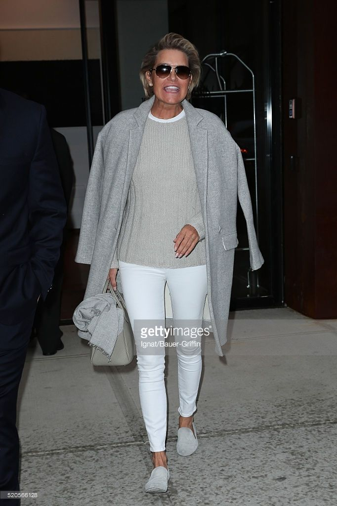 Yolanda Hadid is seen on April 11, 2016 in New York City.