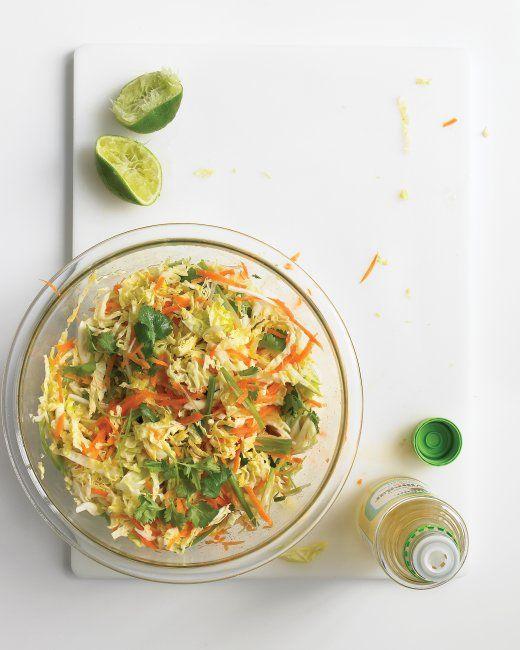 Asian Cabbage Slaw | Recipe | Cabbages, Cilantro and Rice Vinegar