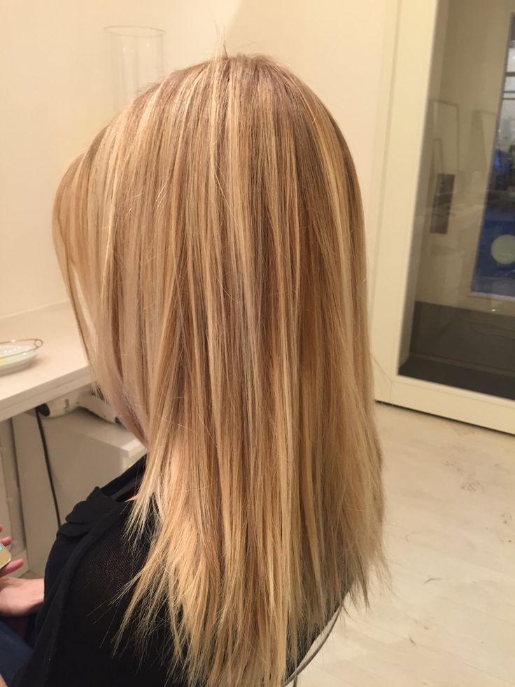Balayage, blonde hair