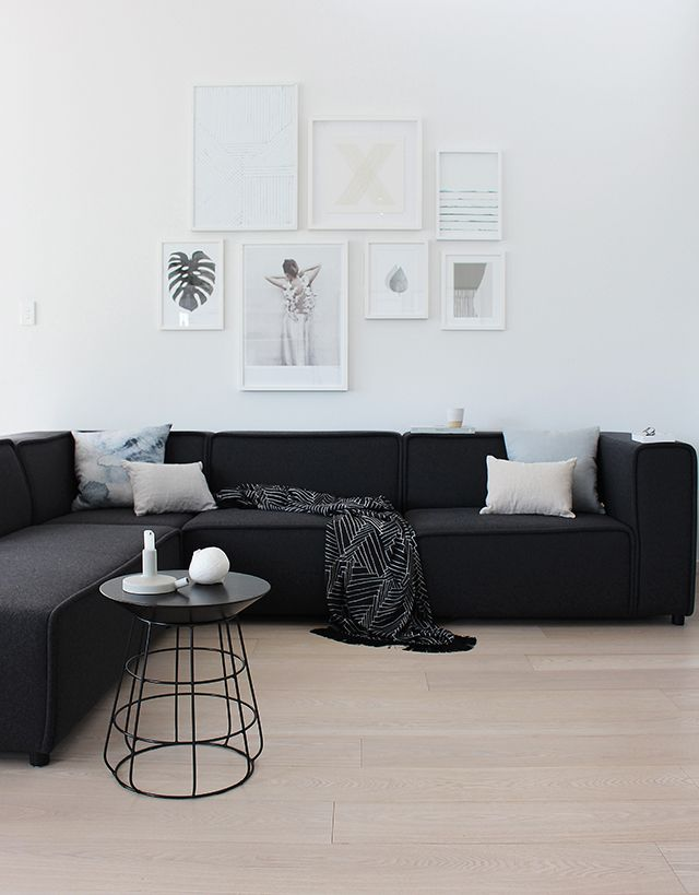 Living Room Sectionals Ideas best 25+ black sofa decor ideas on pinterest | black sofa, black