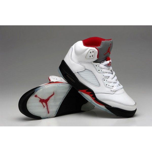New Air Jordan 5V Retro white Red,Only $89.99