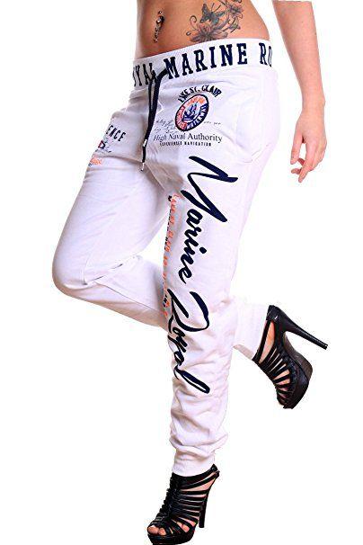 4fe83ee026b530 Jogginghose Damen lang   Trainingshose 100% Baumwolle   Sporthose mit  Bündchen   enger Beinabschluss