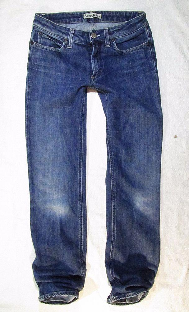 ladies jeans Acne straight leg Hep Pure   luxury jean- W28 L32 #AcneJeans #StraightLeg