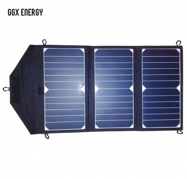 Ggx Energy Sunpower Solar Cells 21watt Portable Folding Solar Panel Array Charger Dc Out For 18v 12v Battery Usb 5v F In 2020 Buy Solar Panels Solar Panels Solar Cell