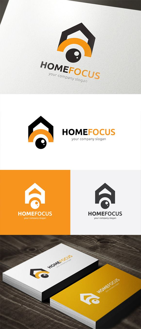 drone logo,photography logo,Home Focus by Super Pig Shop on @creativemarket