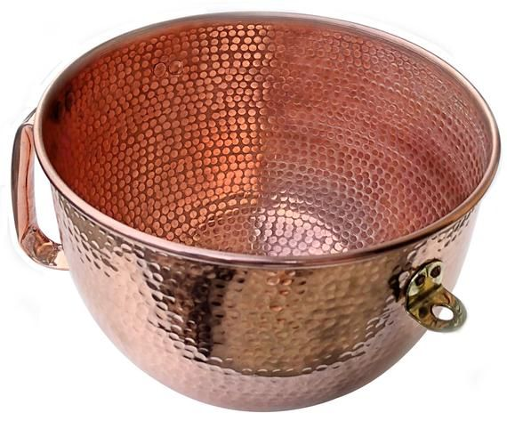 Kitchenaid Solid Copper Mixing Bowl 6 Qt Hand Hammered Fit 10 5