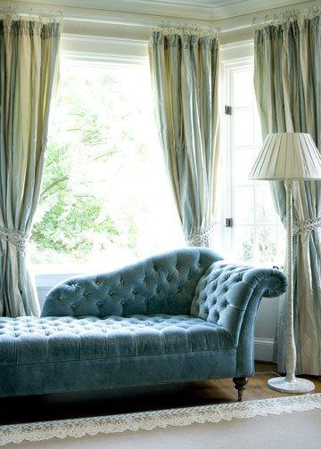 Fainting Couch bedroom traditional with canopy