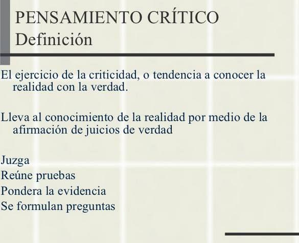 definición del pensamiento critico