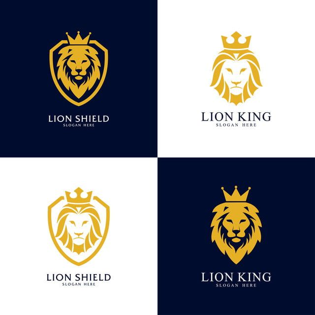 Set Of Lion Shield Logo Design Template Lion Head Logo Element For The Brand Identity Vector Illustration Icons Converter Icons Fitness Icons Maker Png An Logo Design Template Pet Logo Design