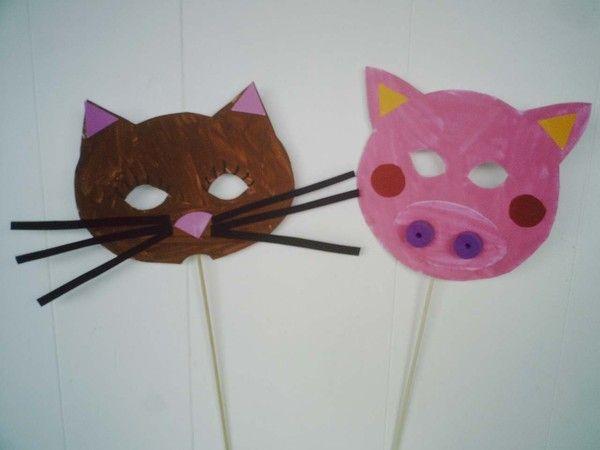 masques chat et cochon d 39 axelle 4 ans masques imprimer. Black Bedroom Furniture Sets. Home Design Ideas