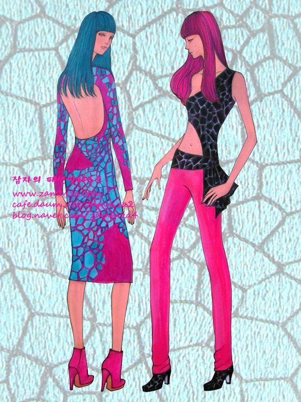 Fashion Fabric ♥ watercolor+marker+colorpencil ♥ zammza fashion illustration ♥ instagram.com/zammza