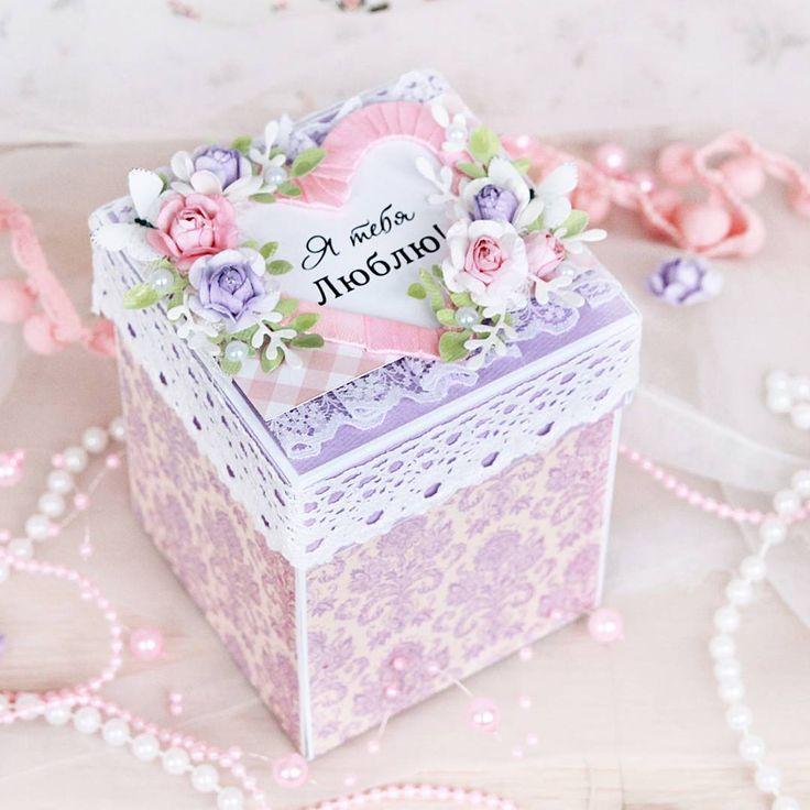 Скрапбукинг, открытка с коробками внутри