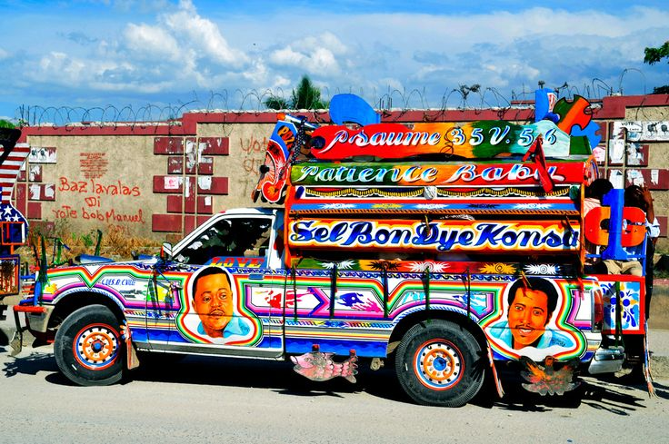 This Is Called Quot Camionette Quot Or Quot Tap Tap Quot Public Transport Haiti The Pearl Of Caribbean
