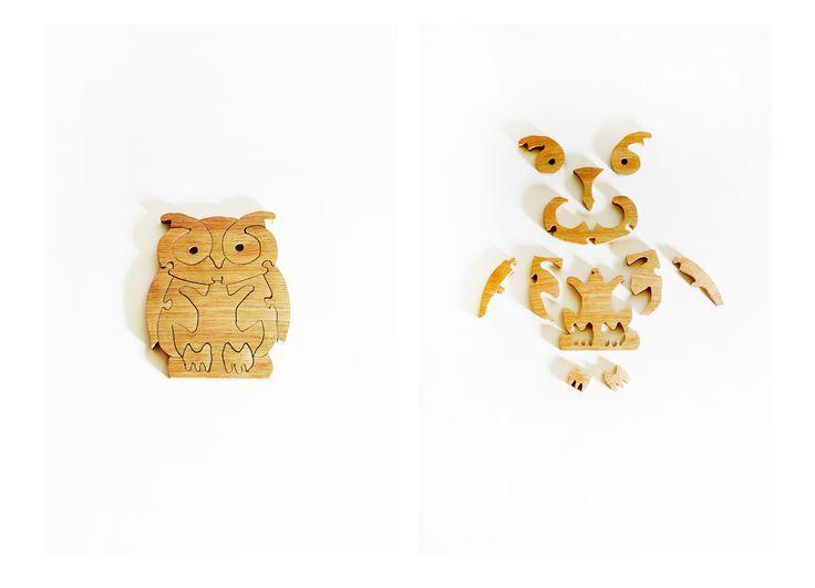 Sowa puzzle Owl puzzle - Aprideco