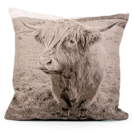 http://www.dunelm-mill.com/shop/highland-cattle-tapestry-cushion-451992