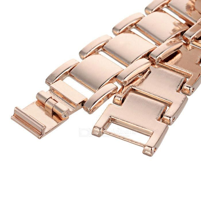Chaoyada Women's Round Dial Analog Quartz Watch - Golden + White - Free Shipping - DealExtreme