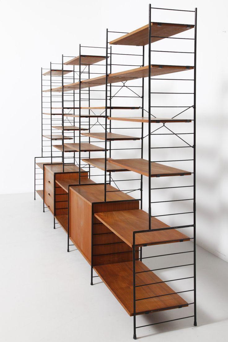 die besten 25 wandregalsystem ideen auf pinterest midcentury moderne stoff danish modern und. Black Bedroom Furniture Sets. Home Design Ideas