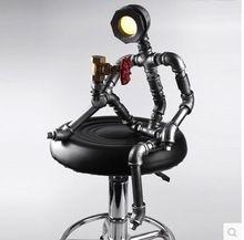 Robot en forme LED Lampe De Table pour chambre moderne lampes De Table pour salon bar, Abajur Lampara De Mesa Lampe(China)