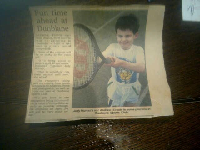 Andy Murray at the age of 5.