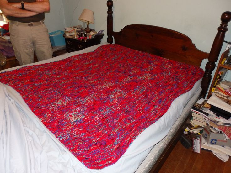 I made this afghan for the nephew N in 2014. I love working with bright colors, and he's a colorful guy!