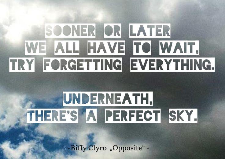 """Biffy Clyro Lyrics """"Opposite"""" #typography #lyrics art"""