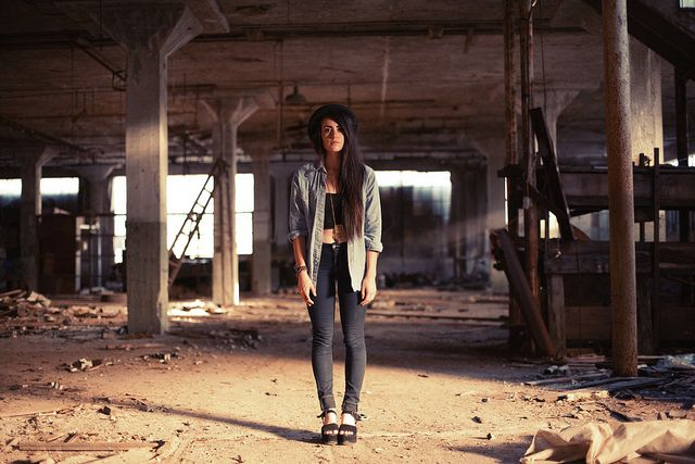 Amber Rapier, Abandoned Building, Columbus, OH by Robby Mueller, via Flickr