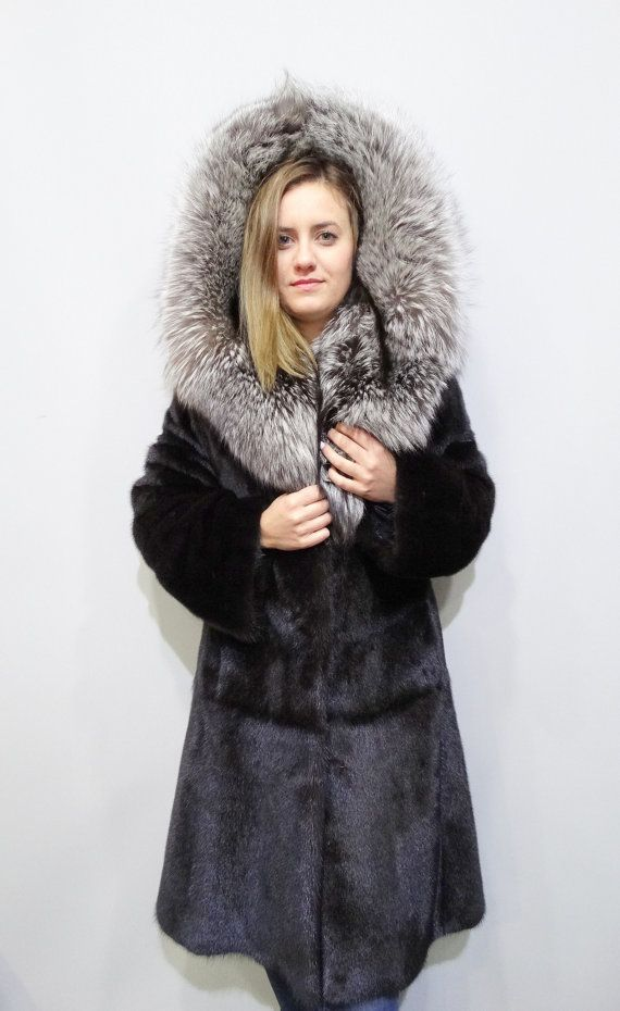 Real fur coatHooded coatLarge hoodBig fox by FilimegasFurs on Etsy